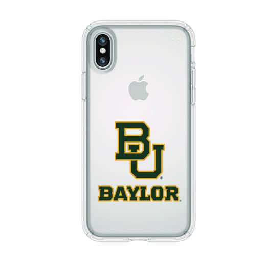 IPH-X-CL-PRE-BAY-D101: FB Baylor iPhone X Presidio Clear
